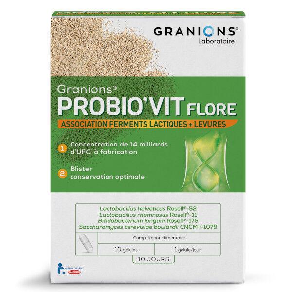 Laboratoire des Granions Granions Probio'Vit Flore 10 gélules