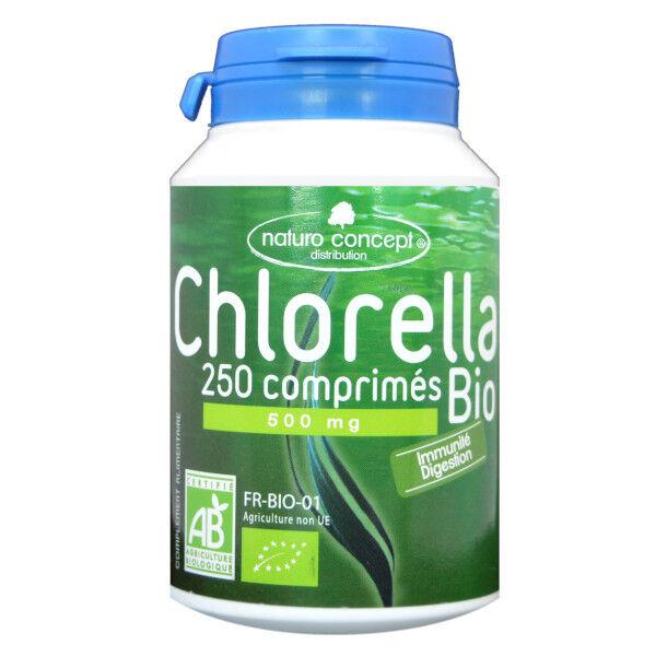 Naturo Concept Algues d'Eau Douce Chlorella Bio 250 comprimés