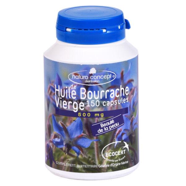 Naturo Concept Huile de Bourrache 500mg Bio 150 capsules