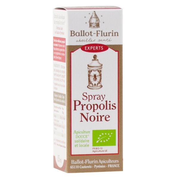 Ballot-Flurin Spray Propolis Noire Avec Alcool 100% Bio 15ml