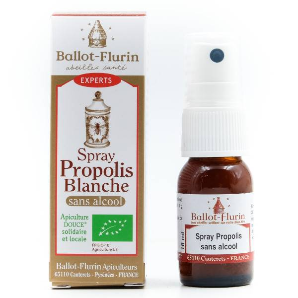 Ballot Flurin Ballot-Flurin Spray Propolis Blanche Sans Alcool Bio 15ml