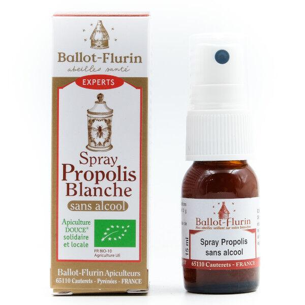 Ballot-Flurin Spray Propolis Blanche Sans Alcool Bio 15ml