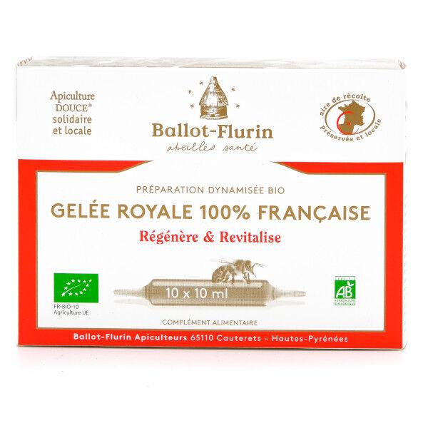 Ballot Flurin Ballot-Flurin Préparation Dynamisée Gelée Royale 100% Française Bio 10 ampoules