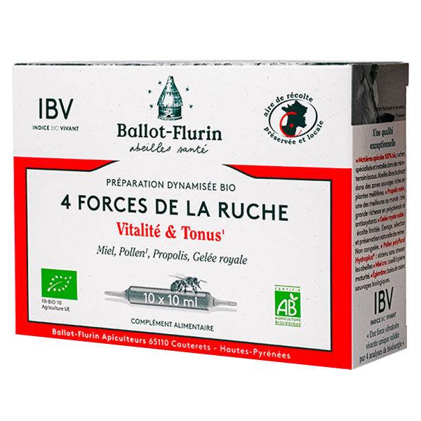 Ballot Flurin Ballot-Flurin Préparation Dynamisée Bio 4 Forces de la Ruche 10 ampoules