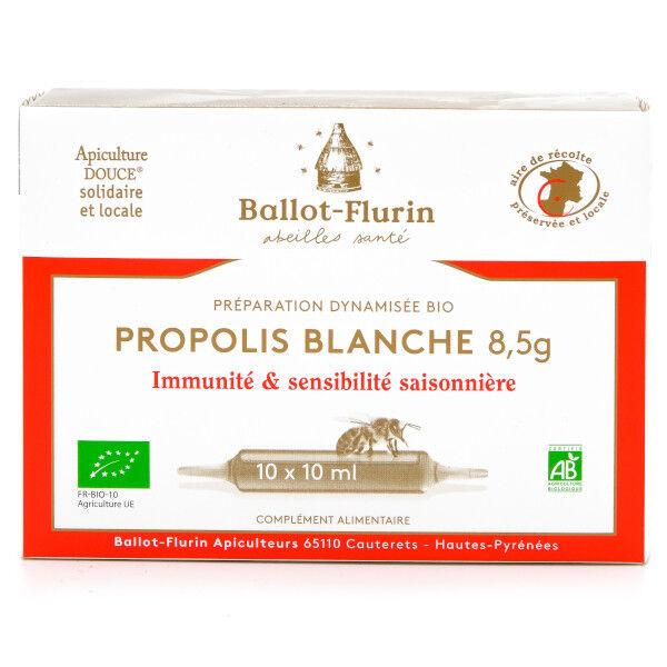 Ballot-Flurin Préparation Dynamisée Propolis Blanche 8,5g Bio 10 ampoules