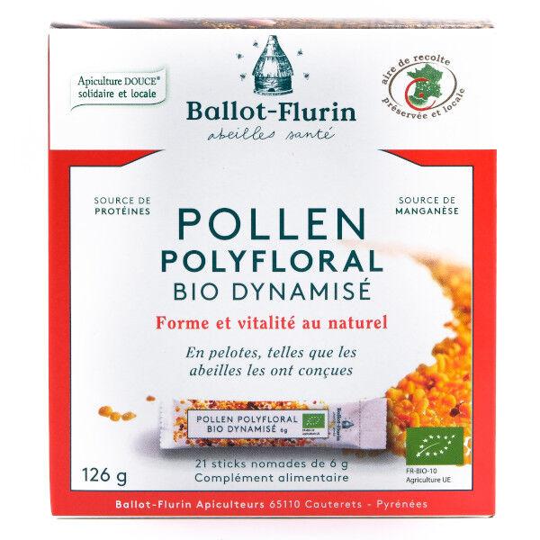 Ballot Flurin Ballot-Flurin Pollen Polyfloral Dynamisé Bio 21 sticks