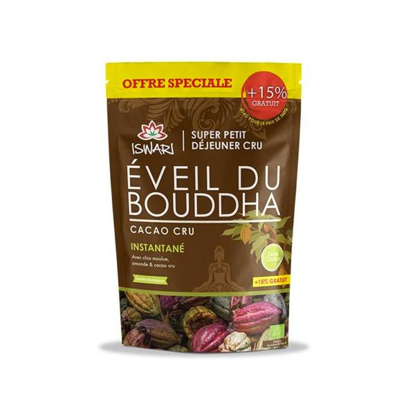 Iswari Eveil du Bouddha Cacao Cru Bio 360g +15 % Offert