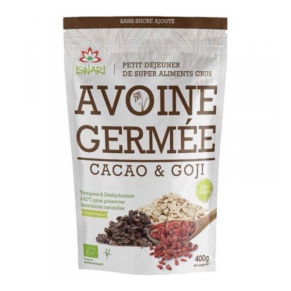 Iswari Avoine Germée Cacao & Goji Bio 400g