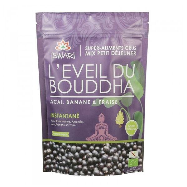 Iswari Eveil du Bouddha Açai Banane Fraise Bio 360g