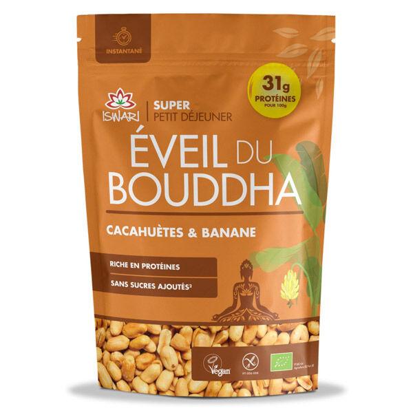 Iswari Eveil du Bouddha Cacahuètes & Bananes Bio 360g