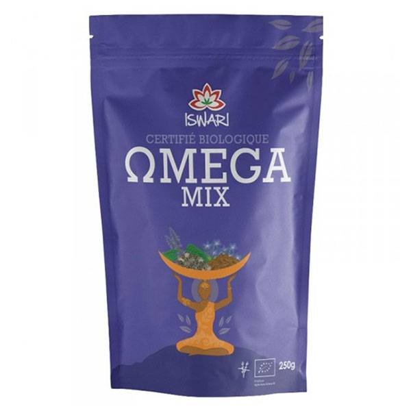 Iswari Omega 3 Mix Graines de Lin & Graines de Chia en Poudre Bio 250g