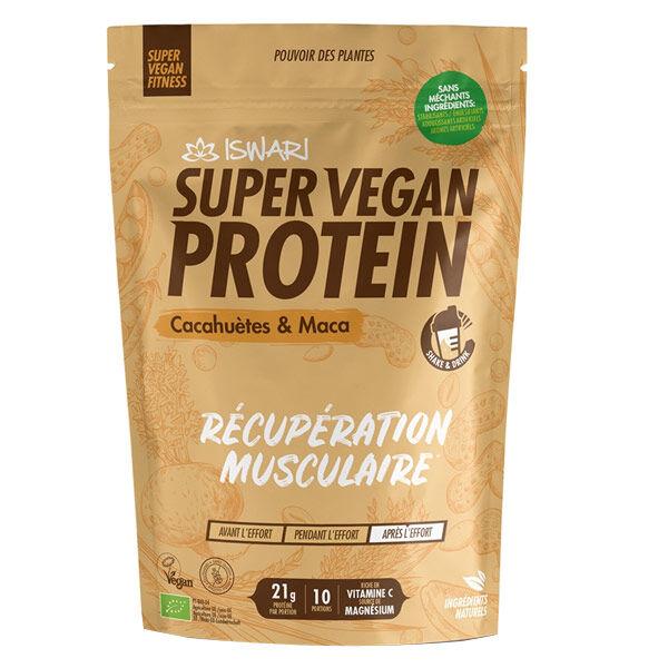 Iswari Super Vegan Protein Cacahuètes et Maca Bio 350g