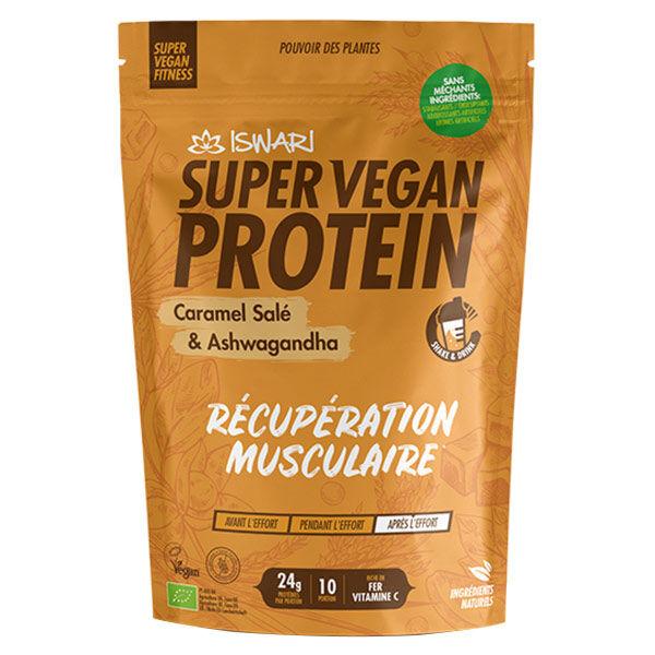 Iswari Super Vegan Protein Caramel Salé et Ashwagandha Bio 350g