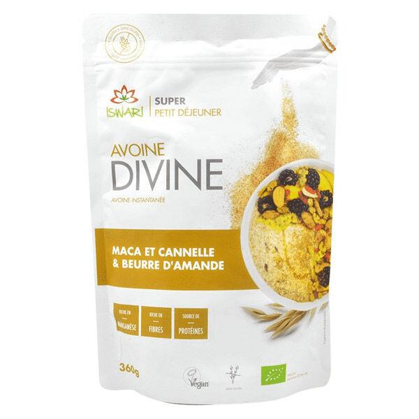 Iswari Avoine Divine Maca Cannelle et Beurre d'Amande Bio 360g