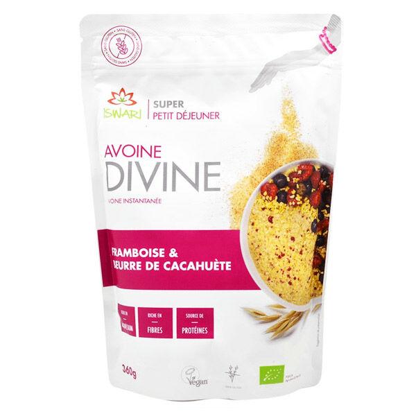 Iswari Avoine Divine Framboise et Beurre de Cacahuète Bio 360g