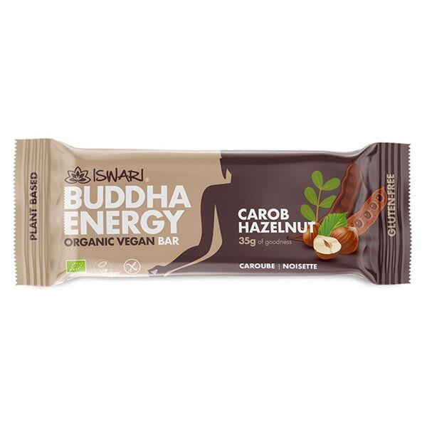 Iswari Barre Bouddha Energie Caroube et Noisette Bio 35g
