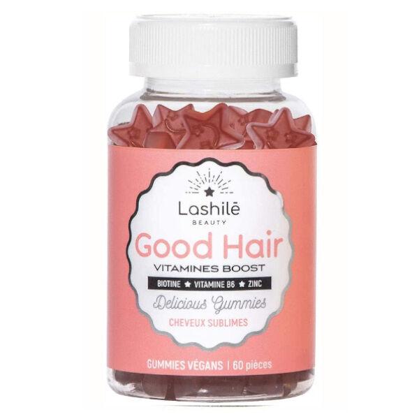 Lashilé Beauty Good Hair Vitamines Boost Cheveux Sublimes 60 gummies vegans