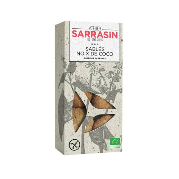 Atelier Sarrasin Sablés Noix de Coco Bio Sans Gluten 130g