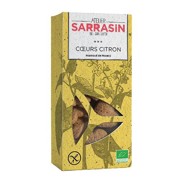 Atelier Sarrasin Cœurs Citron Bio Sans Gluten 130g