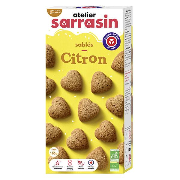 Atelier Sarrasin Cœurs Citron Bio Sans Gluten 100g