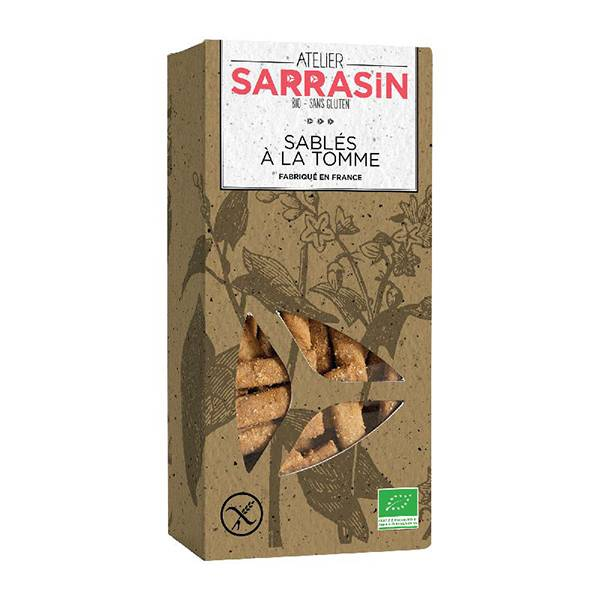 Atelier Sarrasin Sablés à la Tomme Bio Sans Gluten 110g