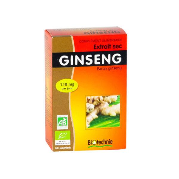 Biotechnie Extrait Sec Ginseng Bio 60 comprimés