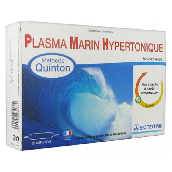 Biotechnie Plasma Marin Hypertonique 20 ampoules