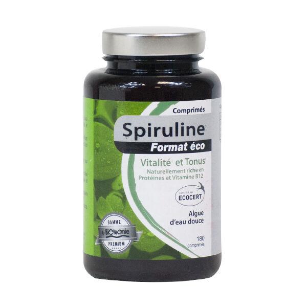 Biotechnie Spiruline Format Eco 180 comprimés