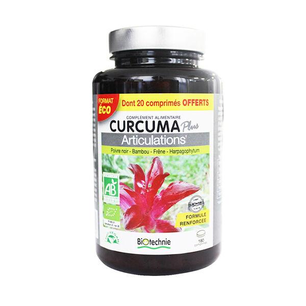 Biotechnie Curcuma Articulations 180 comprimés