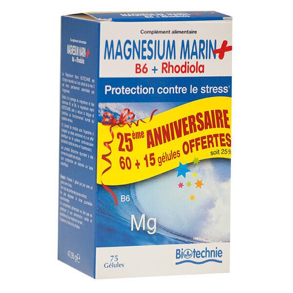 Biotechnie Magnésium Marin B6 + Rhodiola 75 gélules