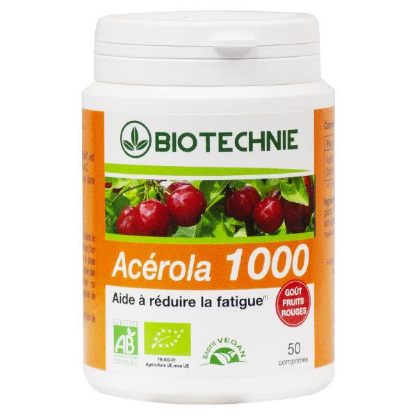 Biotechnie Acérola 1000 Bio 50 comprimés