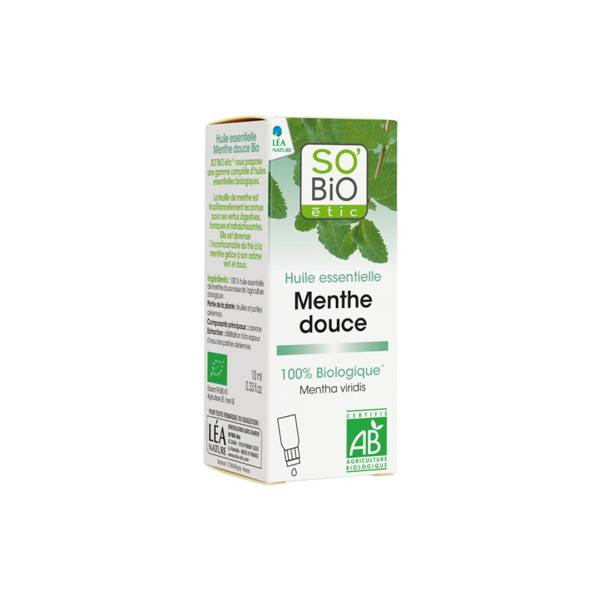 So'Bio Étic Arôma Huile Essentielle Menthe Douce Bio 10ml