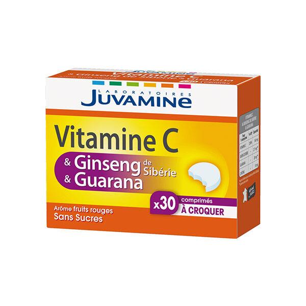 Juvamine Vitamine C Ginseng et Guarana 30 comprimés à croquer