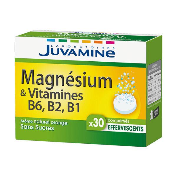 Juvamine Magnésium et Vitamine B6 B2 B1 30 comprimés effervescents