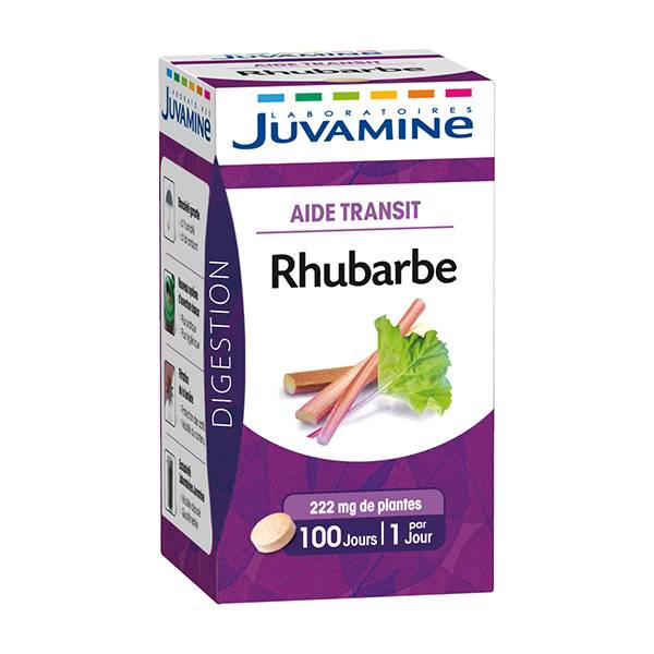 Juvamine Aide Transit Rhubarbe 100 comprimés