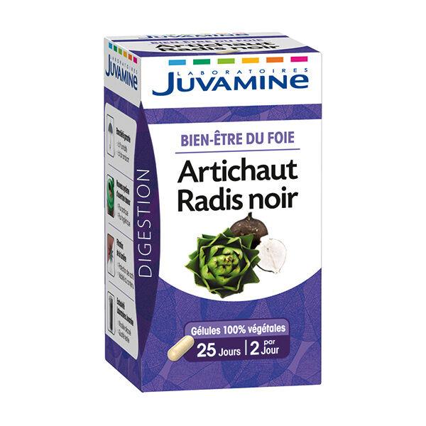 Juvamine Bien Etre du Foie Artichaut Radis Noir 50 gélules
