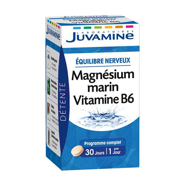 Juvamine Equilibre Nerveux Magnésium Marin Vitamine B6 30 comprimés