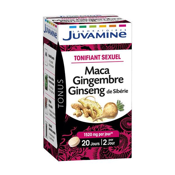 Juvamine Tonifiant Sexuel Maca Gingembre Ginseng de Sibérie 40 comprimés