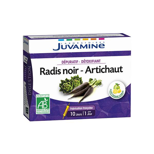 Juvamine Dépuratif-Détoxifiant Radis Noir Artichaut 10 ampoules