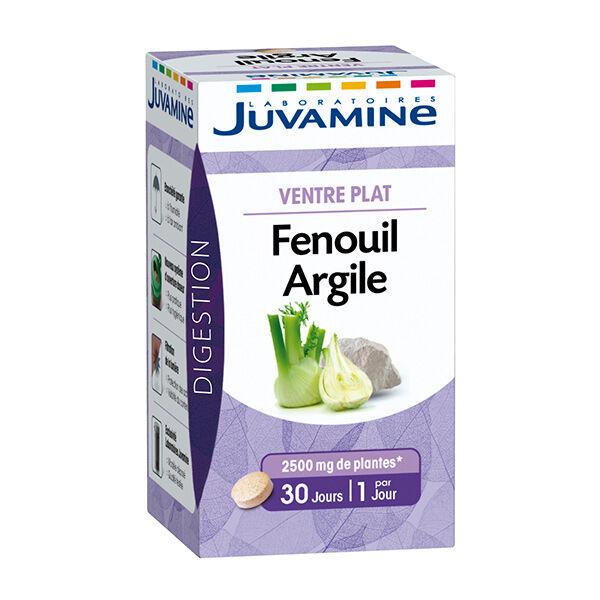 Juvamine Ventre Plat Fenouil Argile 30 comprimés