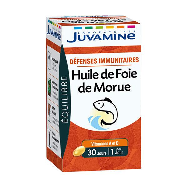 Juvamine Défenses Immunitaires Huile de Foie de Morue 30 gélules