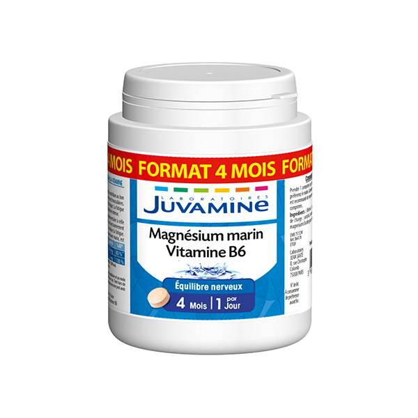 Juvamine Magnésium Marin Vitamine B6 120 gélules