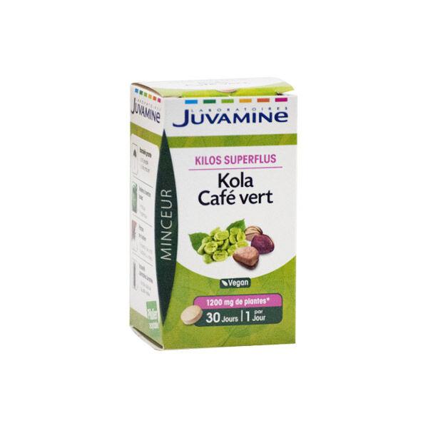 Juvamine Kilos Superflus Kola Café Vert 30 comprimés