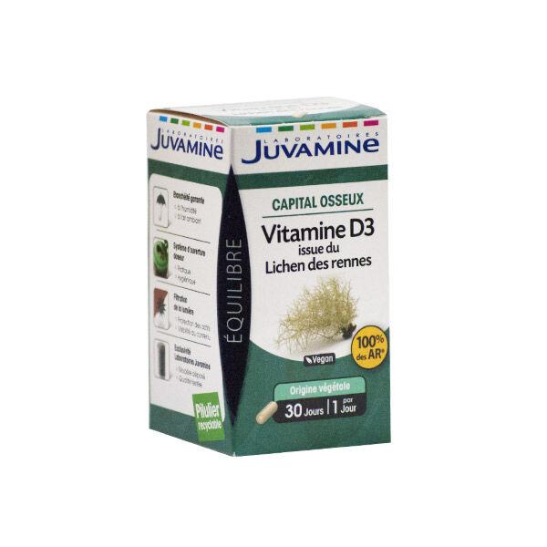 Juvamine Capital Osseux Vitamine D3 de Lichen des Rennes 30 gélules