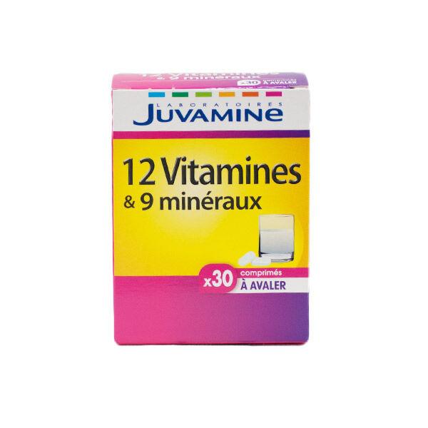 Juvamine 12 Vitamines et 9 Minéraux 30 comprimés à avaler