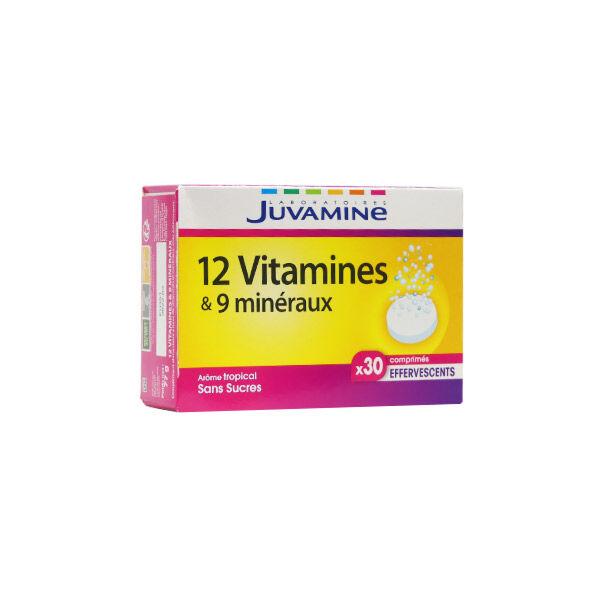 Juvamine 12 Vitamines et 9 Minéraux 30 comprimés effervescents