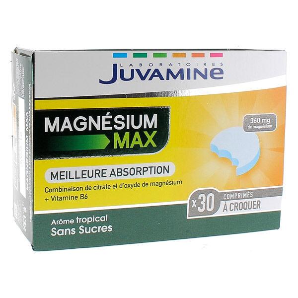 Juvamine Magnésium Max 30 comprimés à croquer