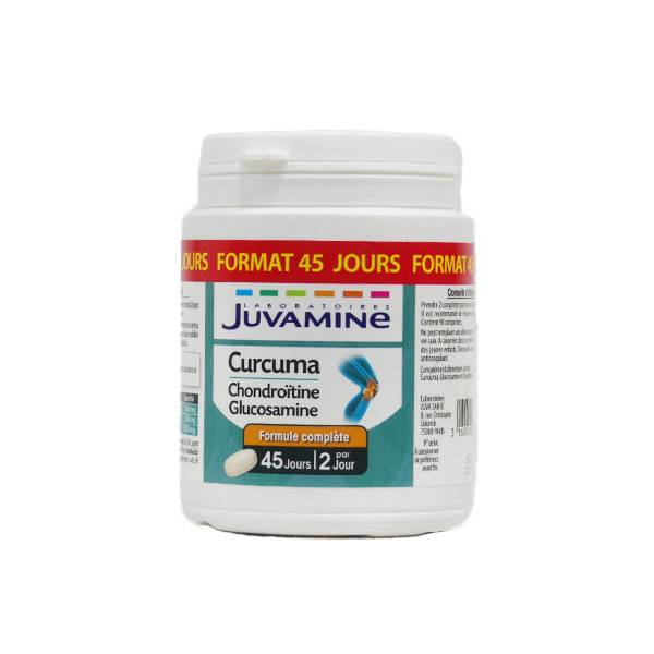 Juvamine Curcuma Chondroïtine Glucosamine 90 comprimés