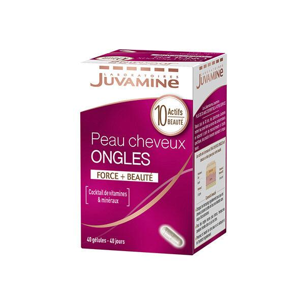 Juvamine Peau Cheveux Ongles Force + Beauté 40 gélules