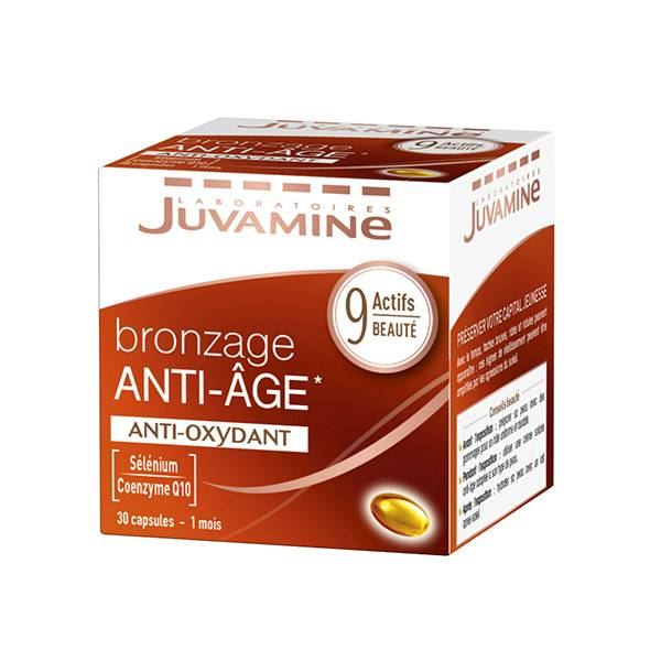 Juvamine Bronzage Anti-Age Anti-Oxydant 30 capsules